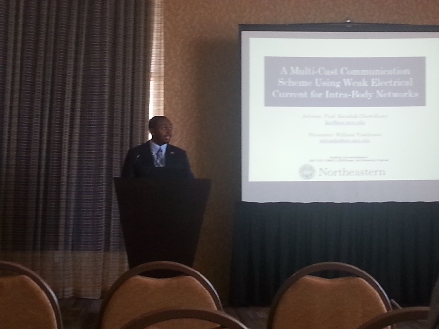 William participating in Round 1 of the 2014 GEM Technical Presentation Competition in San Diego, CA.