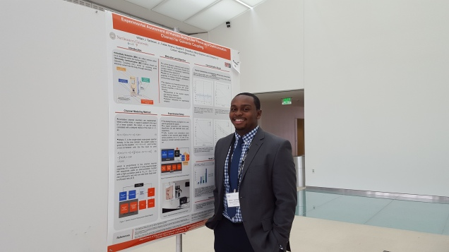 William presenting his research in poster format at the 12th International Conference on Wearable and Implantable Body Sensor Networks at the MIT Media Lab in Cambridge, MA.
